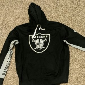 Other - Oakland Raiders full zip hooded jacket